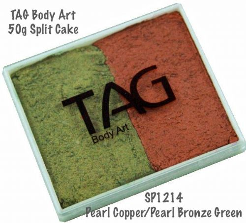 2 Colour Split Cake ~ Pearl Copper / Pearl Bronze Green